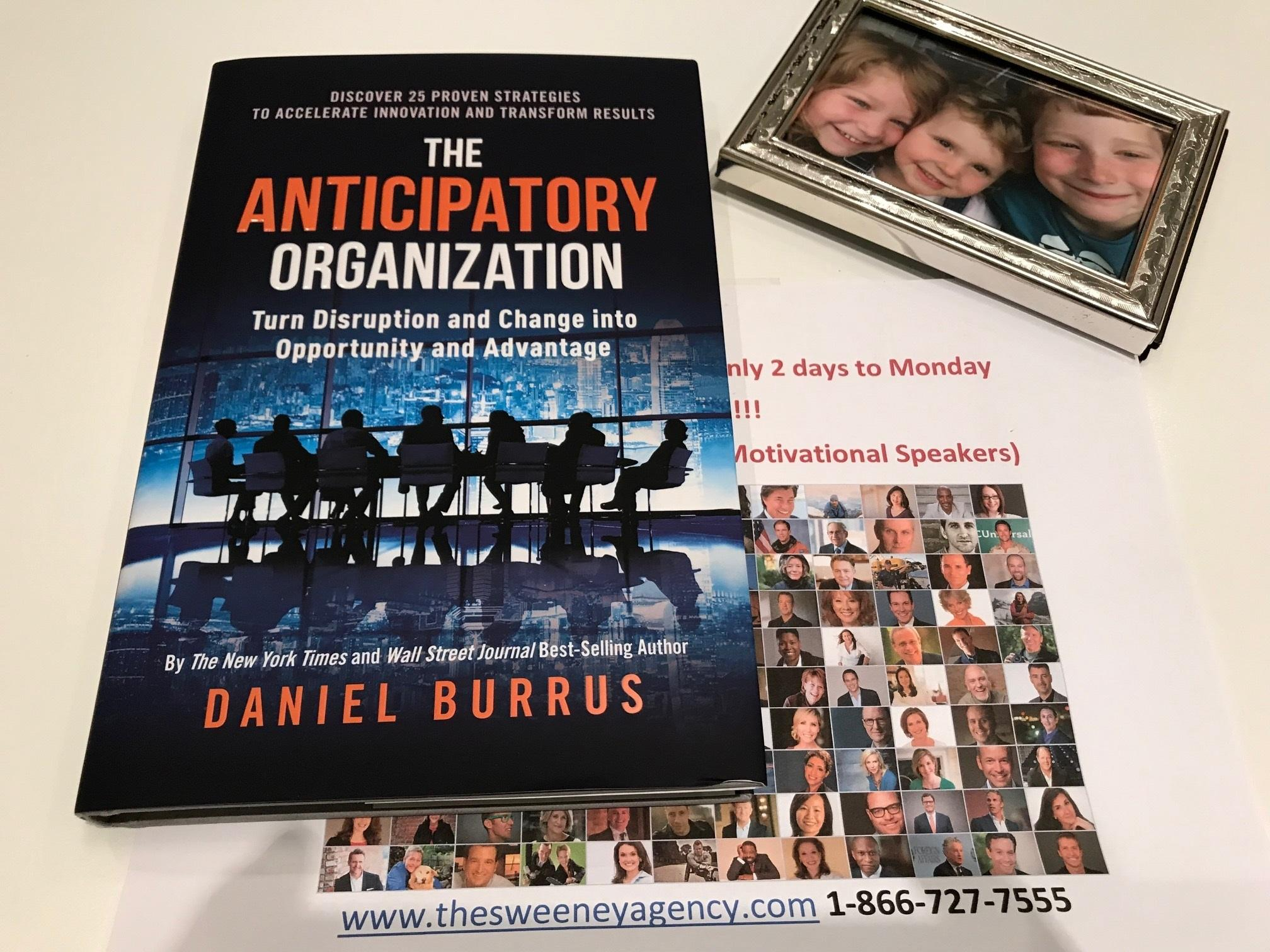 New Book - The Anticipatory Organization  speaker