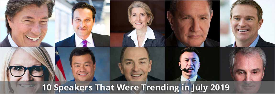 10 Speakers That Were Trending in July 2019