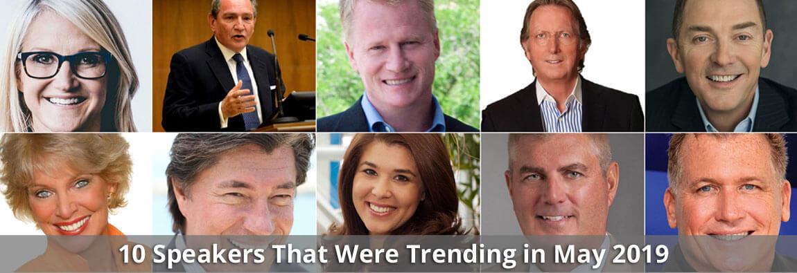 10 Speakers That Were Trending in May 2019