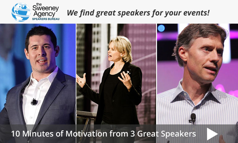 10 Minutes of Motivation from 3 Great Speakers