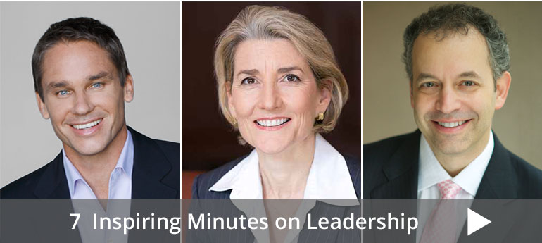 7 Inspiring Minutes on  Leadership