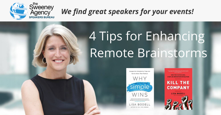 4 Tips for Enhancing Remote Brainstorms