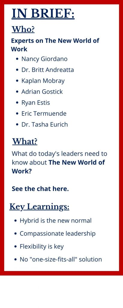 How can leaders navigate The New World of Work at The Sweeney Agency Speakers Bureau