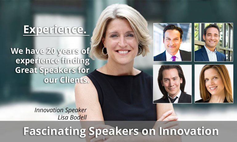 top speakers on innovation mobile slide - Home